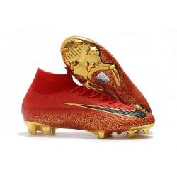 Botas de Fútbol Nike Mercurial Superfly VI 360 Elite FG - Rojo Oro