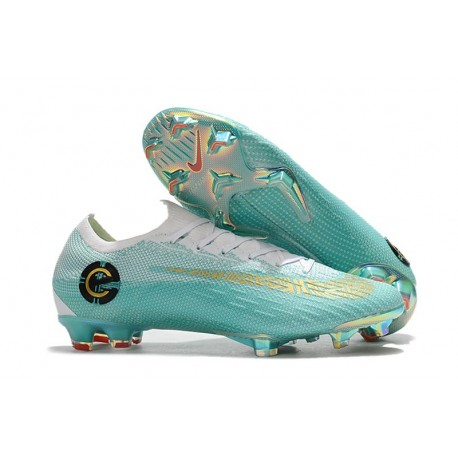 nuevo producto 4d306 3f2dc Zapatos de fútbol 2018 Nike Mercurial Vapor 12 CR7 FG - Blanco Azul