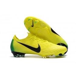 Zapatos de fútbol 2018 Nike Mercurial Vapor 12 FG - Amarillo Negro