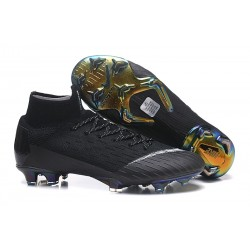 Botas de Fútbol Nike Mercurial Superfly VI 360 Elite FG - Negro Blanco