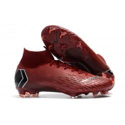 Botas de Fútbol Nike Mercurial Superfly VI 360 Elite FG - Carmesí Negro