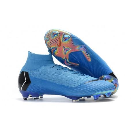 new arrivals b1bb6 a6c48 Botas de Fútbol Nike Mercurial Superfly VI 360 Elite FG - Azul Negro