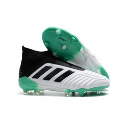 Adidas Predator 18+ FG Botas de Fútbol para Hombre - Blanco Verde Negro