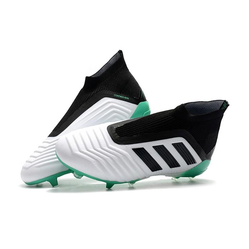 Adidas Predator 18+ FG Botas de Fútbol para Hombre - Blanco Verde Negro a822e6799c790