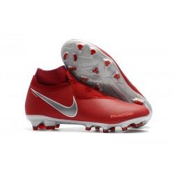 Nike Phantom Vision Elite DF FG Bota de Fútbol - Rojo Plata