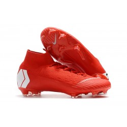 Nike Mercurial Superfly 6 Elite DF FG - Rojo Blanco