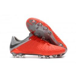Nike Hypervenom Phantom 3 FG BOTAS DE FÚTBOL - Rojo Gris