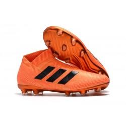 Zapatos de Fútbol Adidas Nemeziz 18+ FG - Naranja Negro