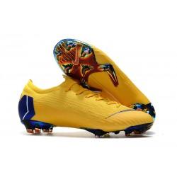 Nike Mercurial Vapor 12 Elite FG Tacos de Futbol - Amarillo Azul