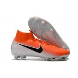 Nike Mercurial Superfly 6 Elite DF FG - Naranja Blanco Negro