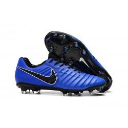 Nike Botas de fútbol Tiempo Legend VII Elite FG - Azul Negro