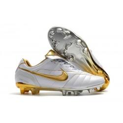 Nike Botas de fútbol Tiempo Legend VII Elite FG - Blanco Oro