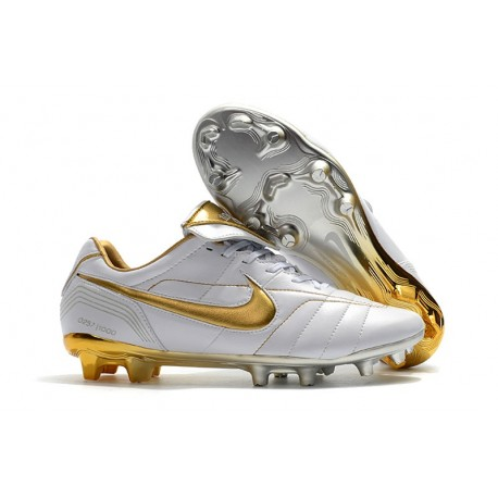 518b8775c03aa8 Nike Botas de fútbol Tiempo Legend VII Elite FG - Blanco Oro