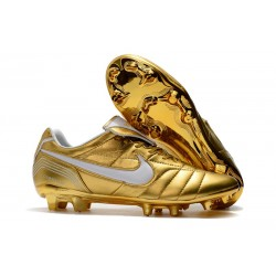Nike Botas de fútbol Tiempo Legend VII Elite FG - Oro Blanco