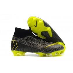 Nike Mercurial Superfly 6 Elite DF FG - Gris Negro Amarillo