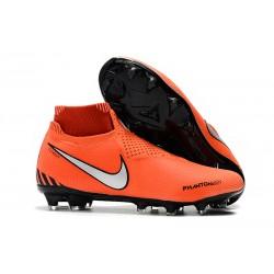 Zapatos de Fútbol Nike Phantom VSN Elite DF FG - Naranja Plata Negro