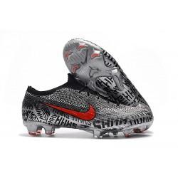 Neymar Nike Mercurial Vapor 12 Elite FG Tacos de Futbol - Negro Blanco Rojo