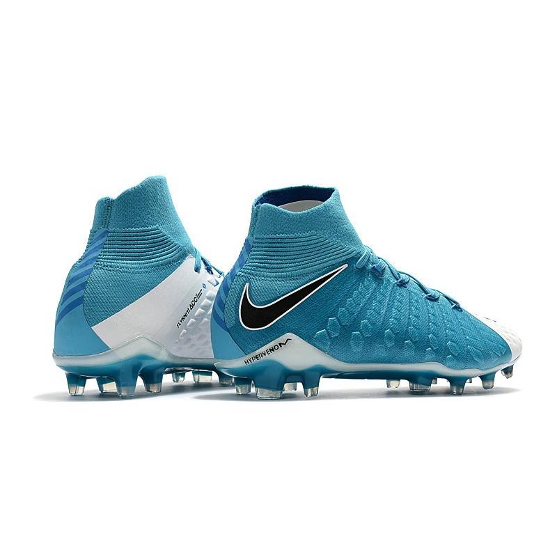 d0e7804131006 Nike Botas de Fútbol para Hombre Hypervenom Phantom DF FG- Azul Blanco