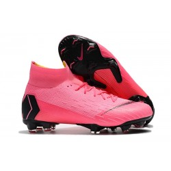Nike Mercurial Superfly VI Elite Dynamic Fit FG Botas - Rosa Negro