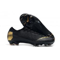 Nike Zapatos de Fútbol Mercurial Vapor XII Elite FG - Negro Oro