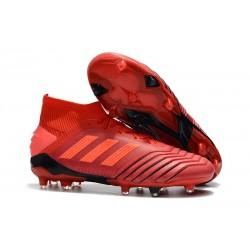 Botas y Zapatillas de Fútbol adidas Predator 19.1 FG - Rojo