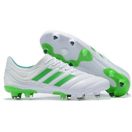 adidas Copa 19.1 FG Nuevas Zapatos de Fútbol Blanco Verde