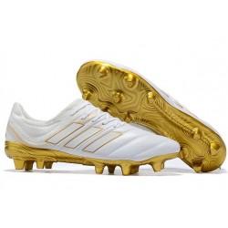 adidas Copa 19.1 FG Nuevas Zapatos de Fútbol - Blanco Oro