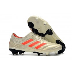 adidas Copa 19.1 FG Nuevas Zapatos de Fútbol - Blanco Rojo