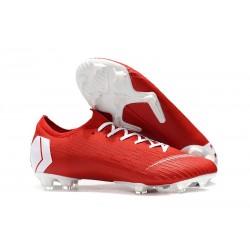 Nike Zapatos de Fútbol Mercurial Vapor XII Elite FG - Rojo Blanco