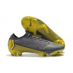 Nike Zapatos de Fútbol Mercurial Vapor XII Elite FG - Gris Negro