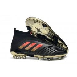 Adidas Predator 18+ FG Tacos de Fútbol para Hombre - Negro Rosso