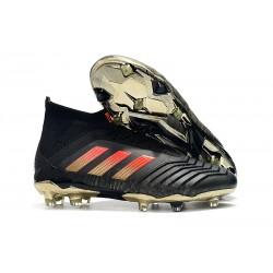 Adidas Predator 18.1 Fg Taco de Fútbol - Negro Rojo Oro
