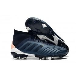 Adidas Predator 18.1 Fg Taco de Fútbol - Cian Negro