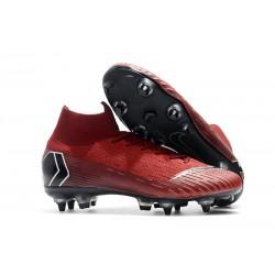 Zapatos de Fútbol Nike Mercurial Superfly VI Elite SG-Pro Rojo Negro