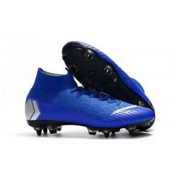 Zapatos de Fútbol Nike Mercurial Superfly VI Elite SG-Pro Azul Plata