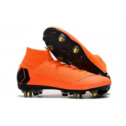Zapatos de Fútbol Nike Mercurial Superfly VI Elite SG-Pro Naranja Negro