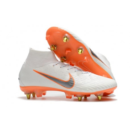 Zapatos de Fútbol Nike Mercurial Superfly VI Elite SG Pro Bianco Naranja