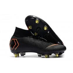 Zapatos de Fútbol Nike Mercurial Superfly VI Elite SG-Pro Negro Naranja