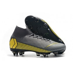 Zapatillas Nike Mercurial Superfly 6 Elite SG-Pro Gris Amarillo