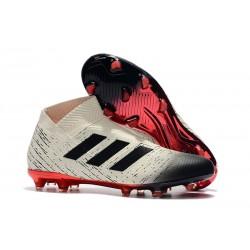 Zapatos de Fútbol Adidas Nemeziz 18+ FG - Blanco Negro Rojo