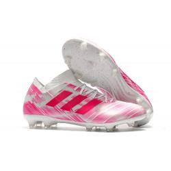 adidas Nemeziz Messi 18.1 FG Bota de Fútbol Rosa Blanco