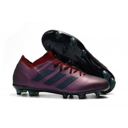 adidas Nemeziz Messi 18.1 FG Bota de Fútbol Violeta Negro