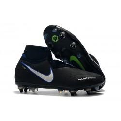 Nike Phantom VSN Elite DF SG-Pro Anti Clog Botas Negro Azul Plateado