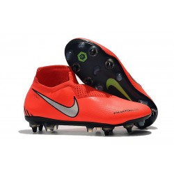 Nike Phantom VSN Elite DF SG-Pro Anti Clog Botas Rojo Plata