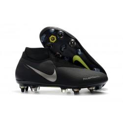 Nike Phantom VSN Elite DF SG-Pro Anti Clog Botas Negro Plata