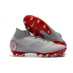 Bota Nike Mercurial Superfly VI Elite AG-Pro Gris Rojo