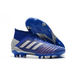 Botas y Zapatillas de Fútbol adidas Predator 19.1 FG - Azul Plata
