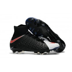 Nike Zapatos de Fulbol Hypervenom Phantom 3 DF FG Negro Blanco