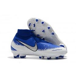 Zapatos de Fútbol Nike Phantom VSN Elite DF FG - Azul Blanco