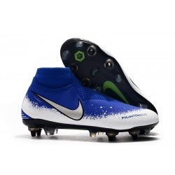 Nike Phantom VSN Elite DF SG-Pro Anti Clog Botas Azul Blanco Plata